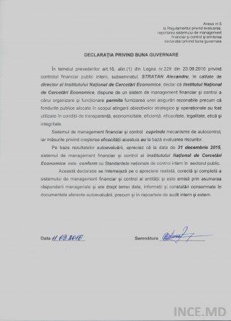 Declarația privind buna guvernare